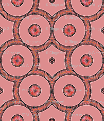 Bold Peach Apricot Circles © Gingezel™ 2012