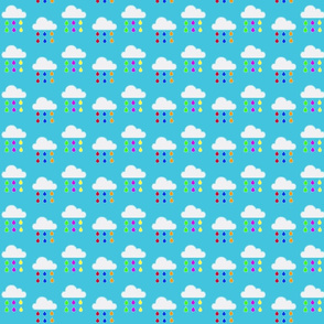 Rainbow Rain - Little Clouds in blue