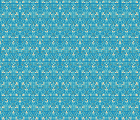 Aqua Hexagons © Gingezel™ 2012 fabric by gingezel on Spoonflower - custom fabric