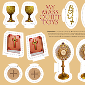 Catholic Mass plushie quiet toys cut and sew