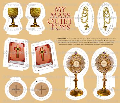 Catholic Mass plushie quiet toys cut and sew