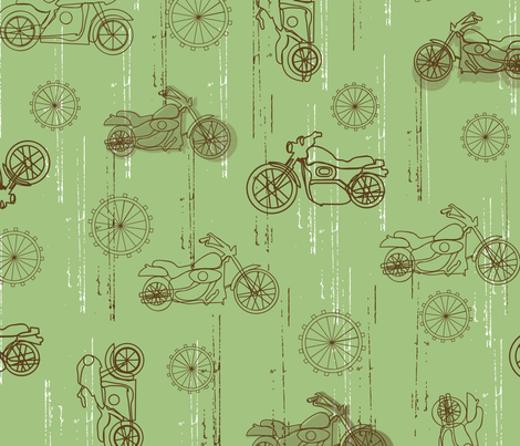 Cycle craze fabric by orangeblossomstudio on Spoonflower - custom fabric