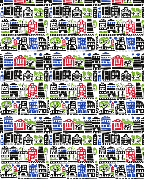 town_50sm fabric by katja_saburova on Spoonflower - custom fabric