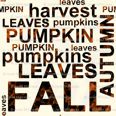 Harvest Pumpkin Text Art