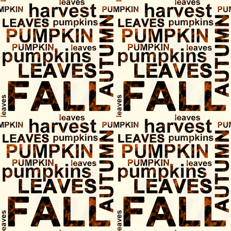 Harvest Pumpkin Text Art fabric by fig+fence on Spoonflower - custom fabric