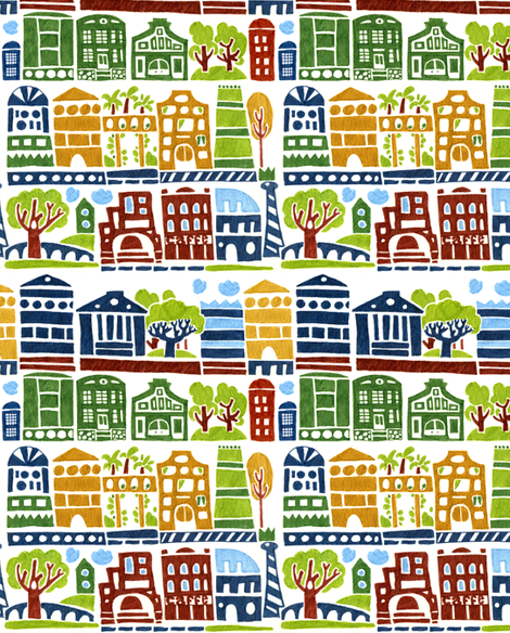 town_final_markers fabric by katja_saburova on Spoonflower - custom fabric