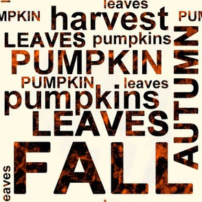 Large Harvest Pumpkin Text Art