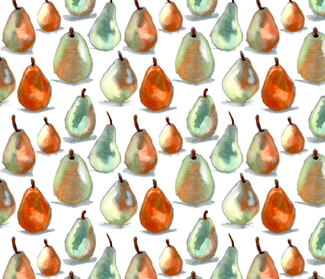 Natalie Price Pears fabric by natalie_price on Spoonflower - custom fabric