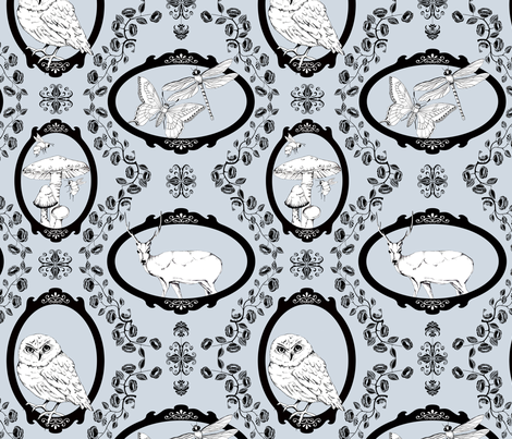 Woodland Enchantment - Misty Morning fabric by uzumakijo on Spoonflower - custom fabric