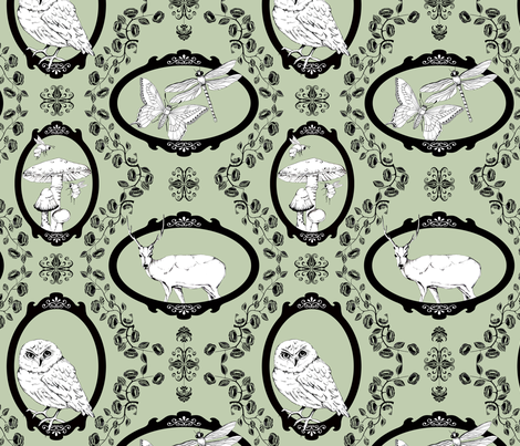Woodland Enchantment - Sage fabric by uzumakijo on Spoonflower - custom fabric