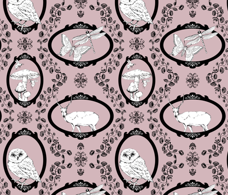 Woodland Enchantment - Heather fabric by uzumakijo on Spoonflower - custom fabric