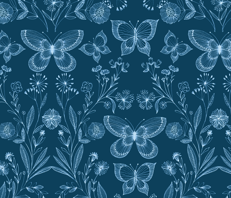 botanical hand drawn fabric by bethan_janine on Spoonflower - custom fabric