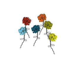 Colorful Doodled Wire Rose