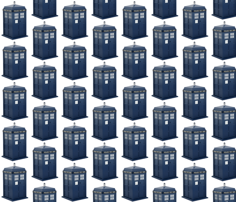 Dr Who Tardis fabric by thedrunkengnome on Spoonflower - custom fabric