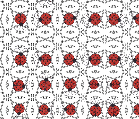 LADYBUG LACE fabric by bluevelvet on Spoonflower - custom fabric