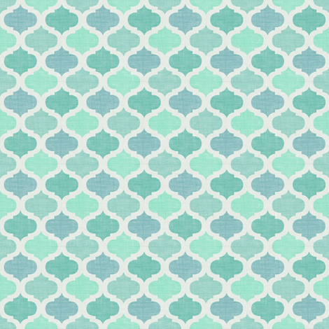 Linen tile Caribe fabric by meli_lees on Spoonflower - custom fabric