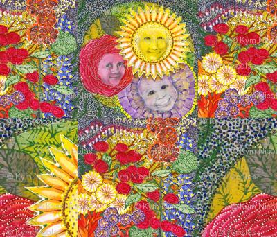 flower children pillow sham
