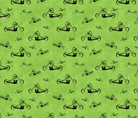 Motorcycles on Green fabric by jpdesigns on Spoonflower - custom fabric