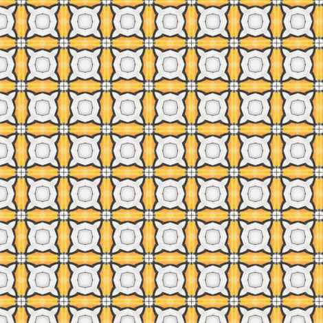 Joffiah's Tiles - Orange fabric by siya on Spoonflower - custom fabric