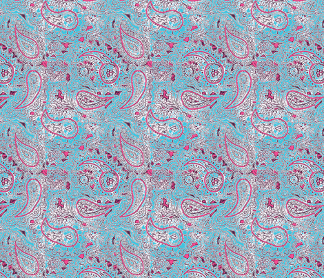 pink paisley pattern :-) fabric by lucy_locket on Spoonflower - custom fabric