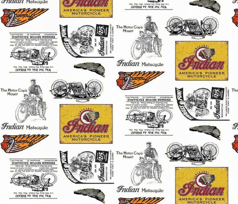 indian_motorcycle fabric by roxiespeople on Spoonflower - custom fabric