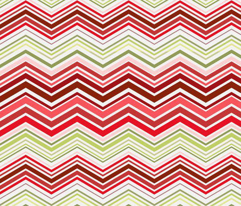 Herringbone cherry popsicle color fabric by littlerhodydesign on Spoonflower - custom fabric