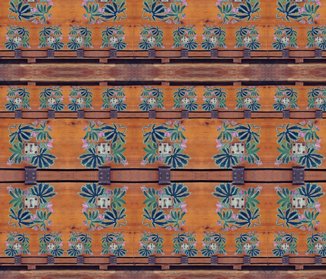 Wooden Locker Flowers fabric by wren_leyland on Spoonflower - custom fabric