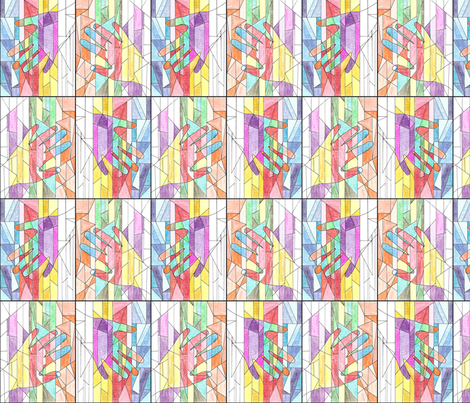 Hands, Drawn fabric by inscribed_here on Spoonflower - custom fabric