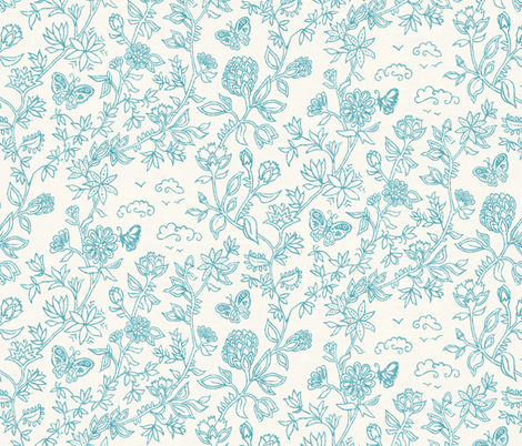 Palace Garden Repeat fabric by forest&sea on Spoonflower - custom fabric