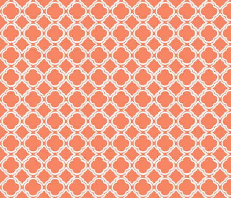 Trellis Papaya fabric by lulabelle on Spoonflower - custom fabric