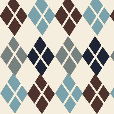 Mr. Argyle ©2012 Jill Bull fabric by palmrowprints on Spoonflower - custom fabric