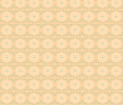 Paris 1922 Cross_stitch fabric by ©_lana_gordon_rast_ on Spoonflower - custom fabric