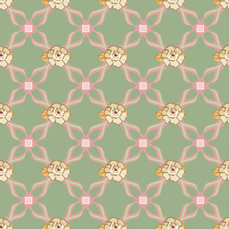 Paris 1922 Flower_Criscross fabric by lana_gordon_rast_ on Spoonflower - custom fabric