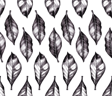 leaves fabric by isbelo on Spoonflower - custom fabric