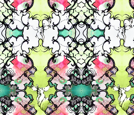 Kaleidoscope Deer fabric by pattern_state on Spoonflower - custom fabric