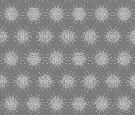 DiAtomic  Grey fabric by imagifab on Spoonflower - custom fabric