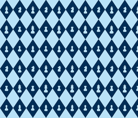 Chessboard Check in Blueberry fabric by charmcitycurios on Spoonflower - custom fabric