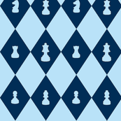 Chessboard Check in Blueberry