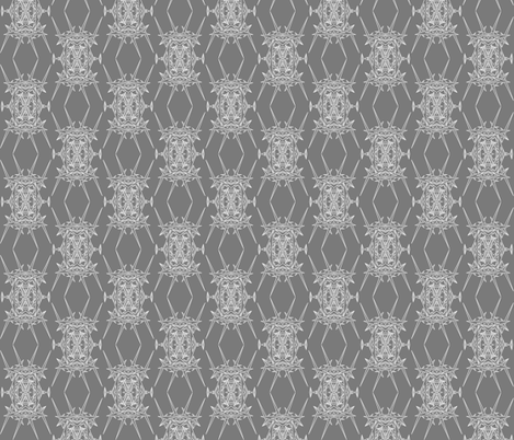 DiAtomic 2 Grey fabric by imagifab on Spoonflower - custom fabric