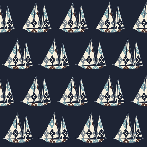 Mr. Sailor  ©2012 Jill Bull fabric by fabricfarmer_by_jill_bull on Spoonflower - custom fabric