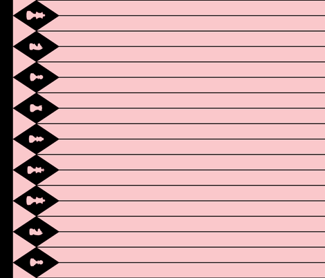 Chessboard Border in Black and Pink