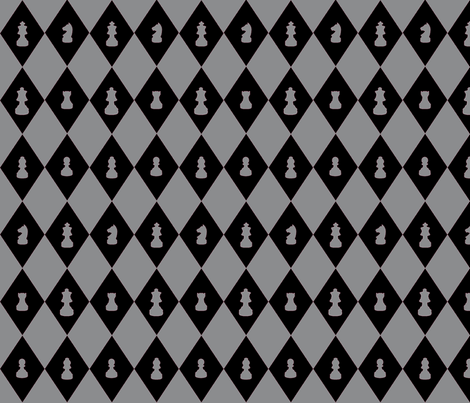 Chessboard Check in Black and Gray fabric by charmcitycurios on Spoonflower - custom fabric
