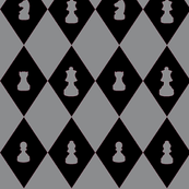 Chessboard Check in Black and Gray