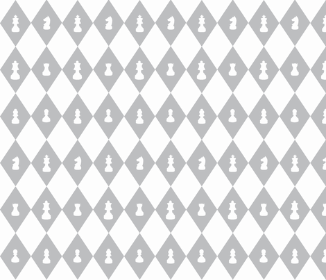 Chessboard Check in Gray and White fabric by charmcitycurios on Spoonflower - custom fabric