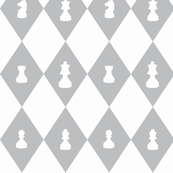 Chessboard Check in Gray and White