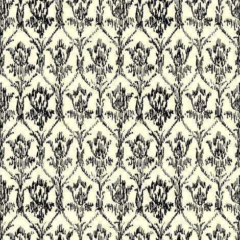 Scribble Goth - Sherlock Flock fabric by amysnotdeadyet on Spoonflower - custom fabric