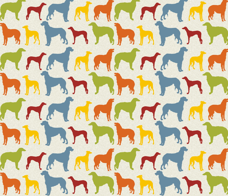 hounds fabric by marcdoyle on Spoonflower - custom fabric