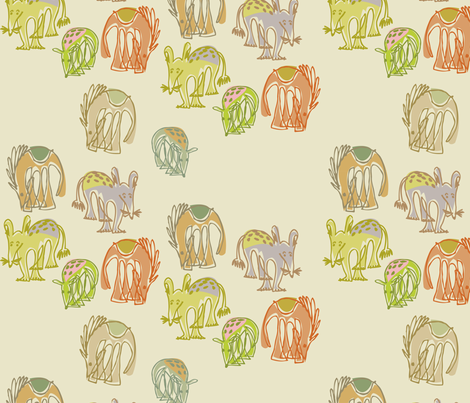 return of the animae fabric by meredithjean on Spoonflower - custom fabric