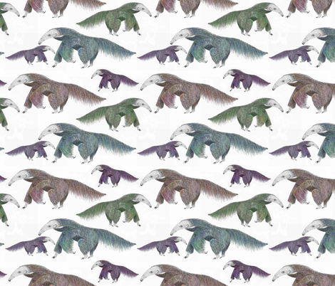 Anteaters!  fabric by vo_aka_virginiao on Spoonflower - custom fabric