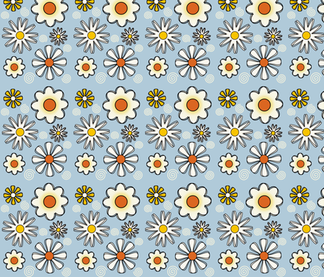 Daisies 2 fabric by dogsndubs on Spoonflower - custom fabric